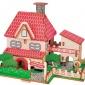 JG加州�光小屋激光切割建筑模型DIY木益智科教玩具立�w拼�D拼板