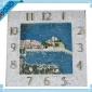 树脂澳门大富豪官网注册时钟边框挂件 国外建筑特色风景时钟框架 厂家定制批发