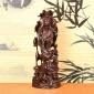 黑檀木荷�~�^音佛像木雕 家居�k公�[件手工雕刻木� 工�品